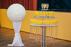 Catering wedding bride table. Party Royalty Free Stock Image