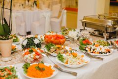 Catering wedding buffet events stock image