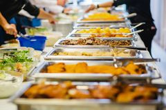 Catering wedding buffet events. Catering wedding buffet for events royalty free stock images
