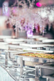Catering wedding event plate. Service Royalty Free Stock Photography