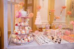 Catering wedding food buffet. Candy Royalty Free Stock Photography