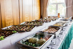 Catering wedding food buffet Royalty Free Stock Photos