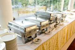 Catering wedding with heater with buffet line Royalty Free Stock Photography