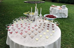 Catering, Wedding reception area Stock Photo