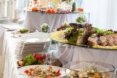 Catering at wedding reception Stock Photos