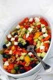 Cateringsfruit en salade Stock Afbeeldingen