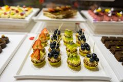 Cateringsvoedsel stock foto