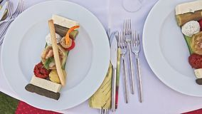 Cateringu bankieta stół zbiory wideo
