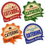 Cateringu etykietka, majcher lub znaczki, Obrazy Royalty Free
