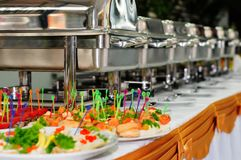 Cateringu ślub Obraz Royalty Free
