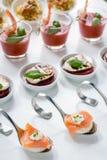 Cateringu palcowy jedzenie Obrazy Royalty Free