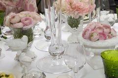 cateringu recepcyjny ustawiania ślub Zdjęcie Stock