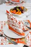 cateringu setu stół Zdjęcia Royalty Free