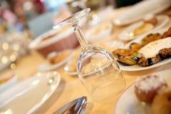 Cateringu stołu set Obrazy Stock