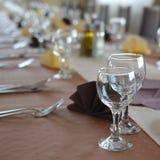 Cateringu stołu set Zdjęcia Stock