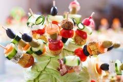 Cateringu zimnego mięsa warzywa Zdjęcie Royalty Free