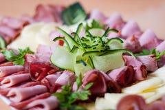 Cateringu zimny mięso Fotografia Royalty Free