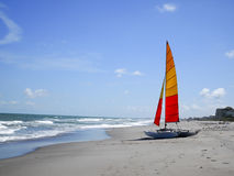 Catermmeran. On Cocoa Beach Florida sunny Day Stock Photography