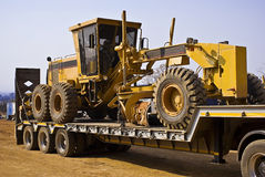 Caterpillar 140H - Chained Down Stock Images