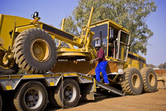 Caterpillar 140H Loading Royalty Free Stock Photo