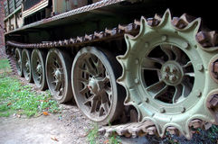 Caterpillar. From old soviet army truck stock image