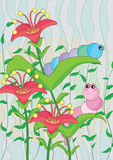 Caterpillar Adoration_eps Stock Images
