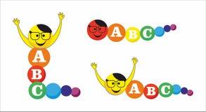 Caterpillar-alfabet Stock Afbeelding