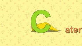 caterpillar Alfabeto inglese dello ZOO - lettera C illustrazione di stock