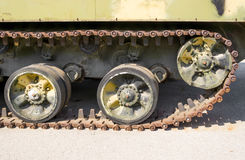 Caterpillar armored vehicles stock photography