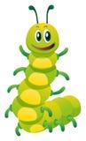 Caterpillar avec le visage heureux illustration de vecteur