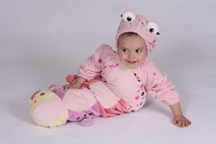 Caterpillar Baby Costume Royalty Free Stock Photos