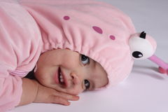 Caterpillar Baby Costume Royalty Free Stock Image