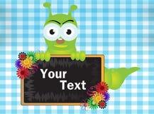Caterpillar and Blackboard Royalty Free Stock Image