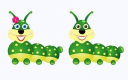 Caterpillar boy and girl Stock Photos
