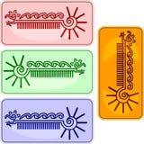 Caterpillar buttons Stock Image