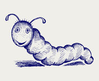 Caterpillar cartoon Stock Photography