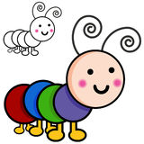 Caterpillar Cartoon Bugs. An image of caterpillar cartoon bugs Royalty Free Stock Image