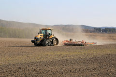 Caterpillar Challenger Crawler Tractor Cultivating Field Royalty Free Stock Photo