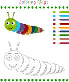 Caterpillar coloring page Stock Photos
