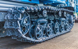 Caterpillar. Construction caterpillar machine mover equipment in close-up royalty free stock photography