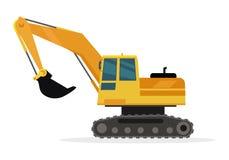 Caterpillar construisant Crane Isolated sur le blanc illustration de vecteur