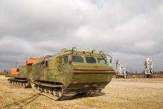 The caterpillar cross-country vehicle Stock Photo