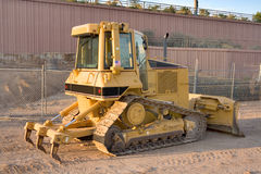 Caterpillar D5N XL Tractor. Caterpillar D5N on a construction site after hours Royalty Free Stock Photos