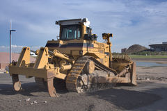 Caterpillar D9R Tractor Rear View Stock Photo