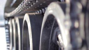 Caterpillar de la película Tanque-vieja acorazada almacen de video