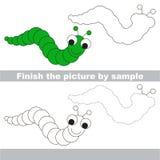 Caterpillar. Drawing worksheet. Stock Photography