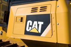 Caterpillar Equipment and Logo. HUDSON, WI/USA - MARCH 14, 2017: Caterpillar heavy duty equipment vehicle and logo. Caterpillar is a leading manufacturer of Stock Photos