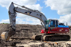 Caterpillar Excavator or earthmover - mechanical digger Royalty Free Stock Photography