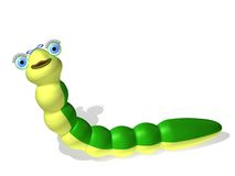 Caterpillar girl. Three-dimensional cartoon the image of a caterpillar on a white background Stock Illustration