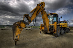 Caterpillar. Hdr picture of an excavator Stock Photography